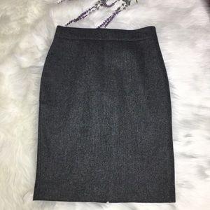 J.crew:No. 2 pencil skirt  color grey size 6.